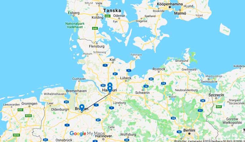 Matka Saksaan Hampuri Ja Bremen Adrian Matkat